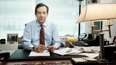 Chris Wallace, host of Fox News Sunday, in his office in Washington, DC on July 23, 2015. Wallace hosted the first debate in the Republican presidential primary, and at the time said his goal was to engage the candidates in conversation with each other instead of 10 separate news conferences. (Photo by T.J. Kirkpatrick for The Washington Post via Getty Images)