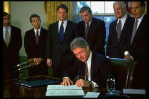 Bill Clinton signing NAFTA