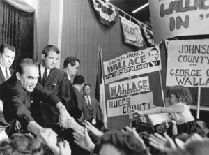 The late George Wallace on the campaign trail.