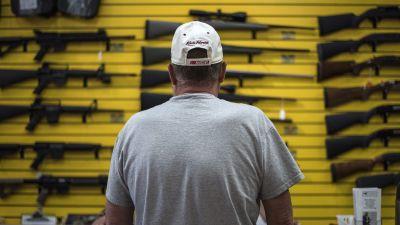 Customer at gun store