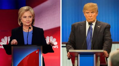 (Left: Patrick T. Fallon/Bloomberg via Getty Images; Right: GEOFF ROBINS/AFP/Getty Images)