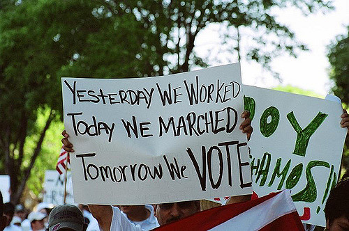 The grass-roots connection between jobs, reforms and the right to vote. (CC) Claudia A. De La Garza.