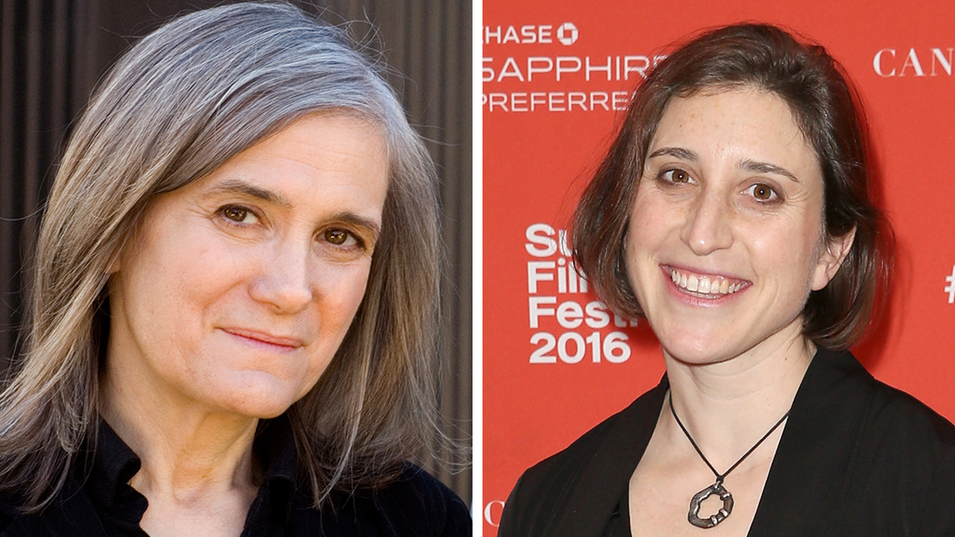 Left: Amy Goodman (Photo: Democracy Now!) Right: Deia Schlosberg (Phillip Faraone/Getty Images for Sundance Film Festival)