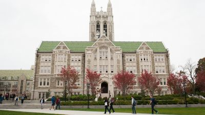 Gasson Hall at Boston College in Chestnut Hill, MA (Credit: Massachusetts Office of Travel & Tourism / Flickr / CC 2.0)