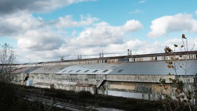 Shuttered steel mill in Youngstown, Ohio