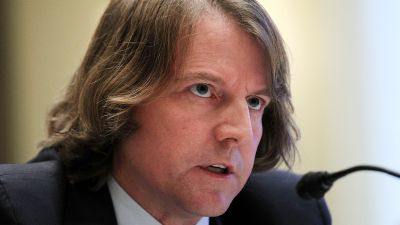 Donald McGahn II testifies during a hearing before the Elections Subcommittee of House Committee on House Administration, Nov. 3, 2011. (Photo by Alex Wong/Getty Images)
