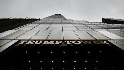 Trump Tower in Manhattan on Oct. 8, 2016. (Photo by Spencer Platt/Getty Images)