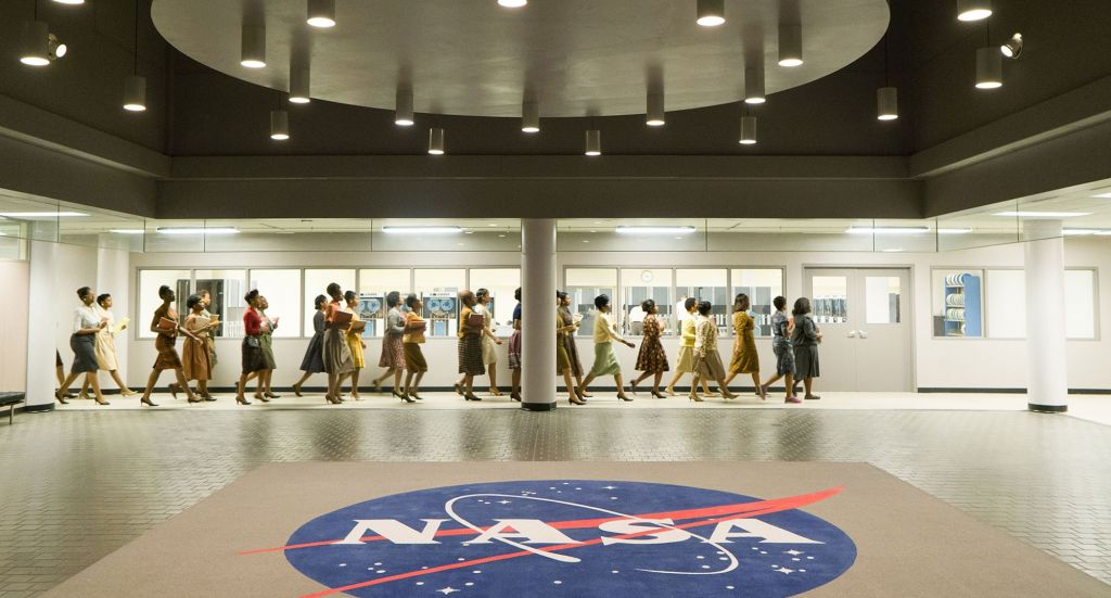 """A scene from """"Hidden Figures,"""" a new film out in theaters this month. (Photo courtesy of 20th Century Fox)"""