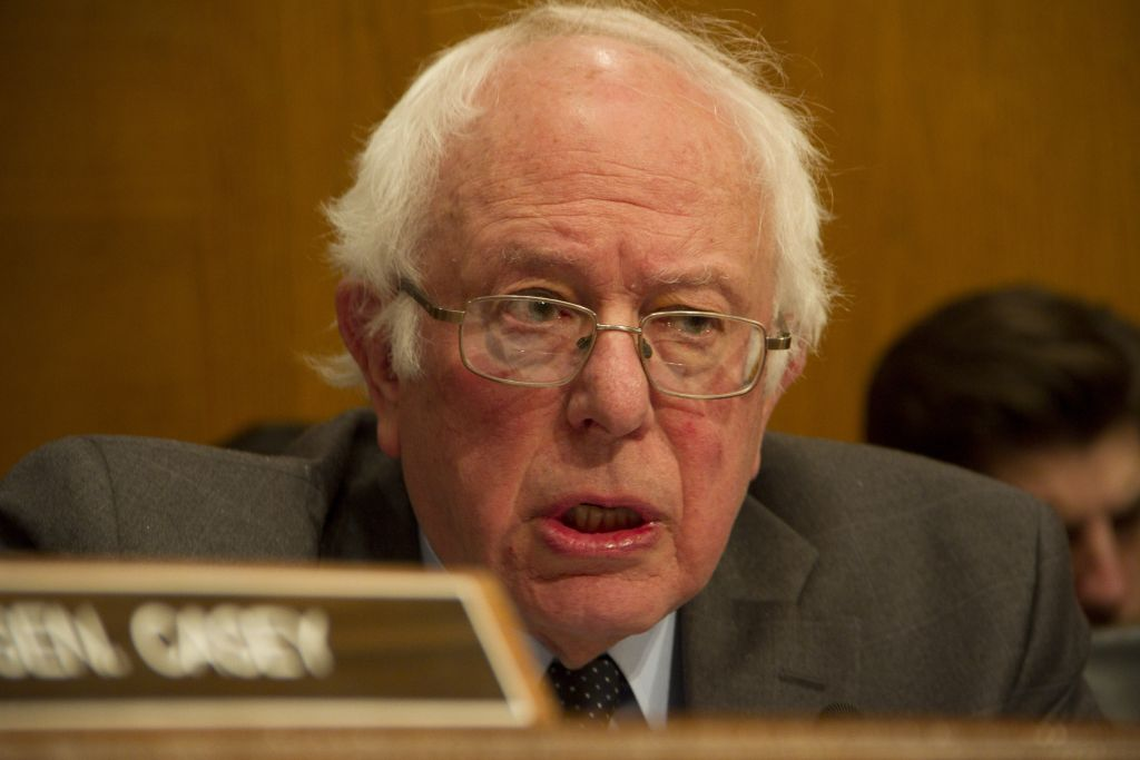 Sen. Bernie Sanders (I-VT) questions Health and Human Services Secretary Nominee Rep. Tom Price (R-GA) as he testifies during his confirmation hearing January 18, 2017 on Capitol Hill in Washington, DC. (Photo by Stephen J. Boitano/LightRocket via Getty Images)