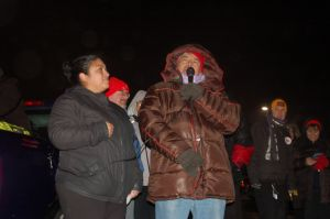 Luciano Valbuena speaks at the strike. (Photo courtesy of CTUL)