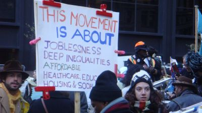 Protesters in the Occupy Movement in 2011. (Photo by Jagz Mario/ flickr CC 2.0)
