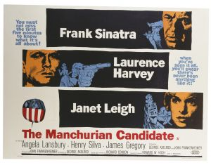 A poster for John Frankenheimer's 1962 thriller The Manchurian Candidate. (Photo by Movie Poster Image Art/Getty Images)