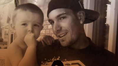 Tyler Tabor with his son, D.T. (Photo courtesy of the Tabor family.)