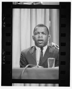 John Lewis speaking at a meeting of American Society of Newspaper Editors, 1964. (Photo courtesy of the Library of Congress)