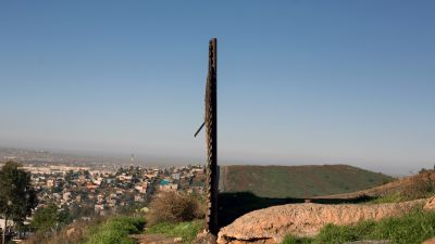 View of the border fence between Mexico and the US, seen from the Mexican side, on Jan. 26, 2017, in Tijuana, northwestern Mexico. (Photo by Guiillermo Arias/AFP/Getty Images)