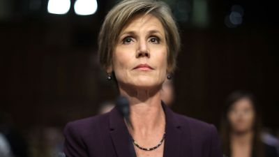 Former acting US Attorney General Sally Yates testifies before the Senate Judiciary Committee's Subcommittee on Crime and Terrorism on Capitol Hill May 8, 2017 in Washington, DC. (Photo by Chip Somodevilla/Getty Images)