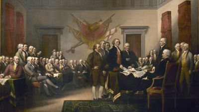"""""""We are radicals at heart. It is time we recognize it. It is time we embrace our radical history,"""" writes Harvey Kaye. (The Declaration of Independence by John Trumbull /Wikimedia Commons)"""