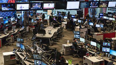 Newsroom at CNN World Headquarters in Atlanta. (Photo by John Greim/LightRocket via Getty Images)