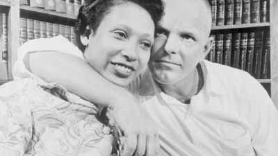 On June 12, 1967, the Supreme Court ruled unanimously that a Virginia law banning marriage between African-Americans and Caucasians was unconstitutional, thus nullifying similar statues in 15 other states. The decision came in a case involving Richard Perry Loving, a white construction worker and his African-American wife, Mildred. (Photo by Bettman / Getty Images)