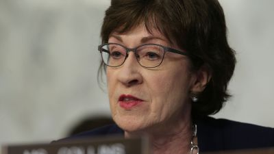 Sen. Susan Collins (R-ME) speaks during a hearing before the Senate Intelligence Committee June 13, 2017 in Washington, DC. (Photo by Alex Wong/Getty Images)