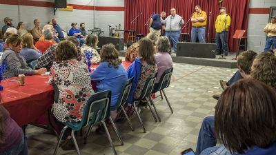 Citizens gather for Bluegrass & Broadband at a meeting of the Letcher County Broadband Board, led by Appalshop Partners. (Photo courtesy of Appalshop)