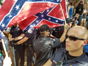 Klan rally over removal of Robert E. Lee statue in Charlottesville, Virginia.