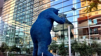 The Blue Bear, looking in the window of the Colorado Convention Center in Denver. (Photo by Joel Gillman   Flickr CC 2.0)