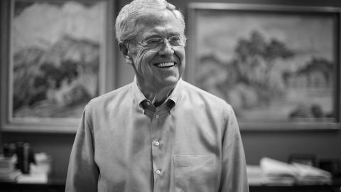 Charles Koch, 79, in his office at Koch Industries in Wichita, Kansas, on July 29, 2015. (Photo by Nikki Kahn/The Washington Post via Getty Images)