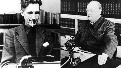 George Orwell (Photo by ullstein bild/ullstein bild via Getty Images) | Winston Churchill (Photo by Keystone-France/Gamma-Keystone via Getty Images)