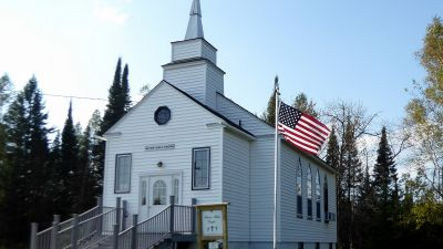 The Watson Bible Chapel on a sunny September day in far southern Marquette County, Michigan. (Photo by yooperann/ flickr CC 2.0)