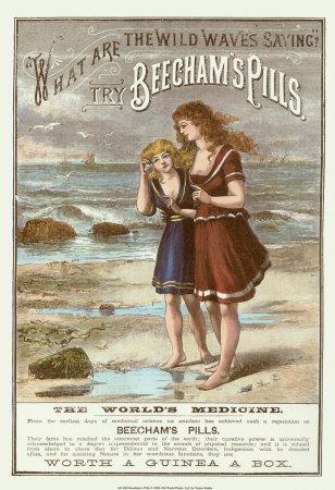 Advertisement for Beecham's pills, late 19th century