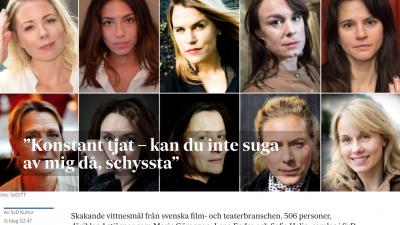Nov. 8, 2017 cover of the Swedish newspaper Svenska Dagbladet.