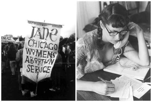 """Images from the Jane Collective, which helped women obtain """"underground"""" abortions in a safe manner when it was illegal."""