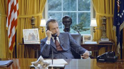 Richard Nixon at his desk