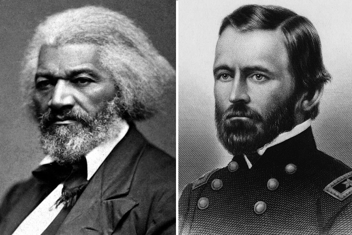Frederick Douglass and Ulysses S. Grant
